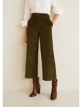 flared-corduroy-trousers by mango