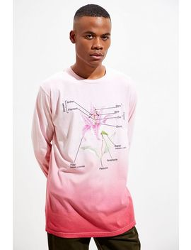 floral-diagram-dip-dye-long-sleeve-tee by urban-outfitters