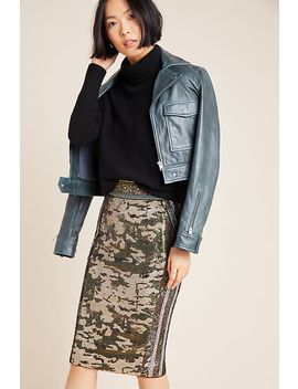byron-lars-sequined-camo-pencil-skirt by byron-lars