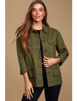 brookhollow-olive-green-utility-jacket by lulus