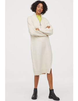 knitted-dress-with-a-slit by h&m