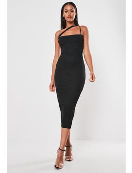 black-cross-strap-bodycon-midi-dress by missguided