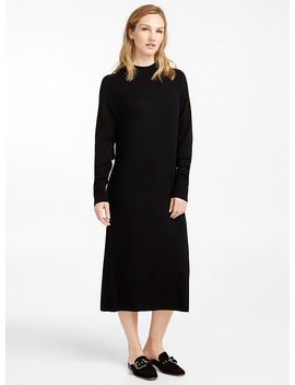loose-rib-knit-merino-wool-dress by contemporaine