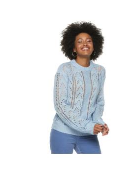 womens-popsugar-pointelle-sweater by popsugar