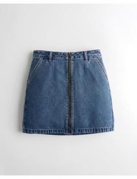 ultra-high-rise-zip-front-denim-skirt by hollister