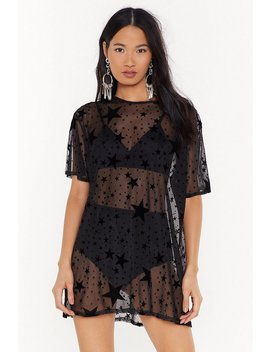how-star-will-you-go-sheer-tee-dress by nasty-gal