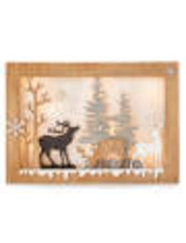 carved-wood-deer-scene-led-plaque by carved-wood-deer-scene-led-plaque