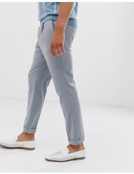 topman-–-elegante-bundfaltenhose-in-grau by asos