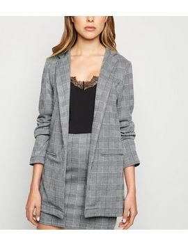 innocence-light-grey-check-jacquard-blazer by new-look