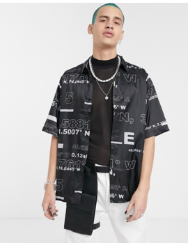 asos-design-boxy-fit-tech-shirt-in-text-print by asos-design