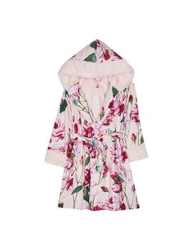 girls-pink-floral-print-dressing-gown by baker-by-ted-baker