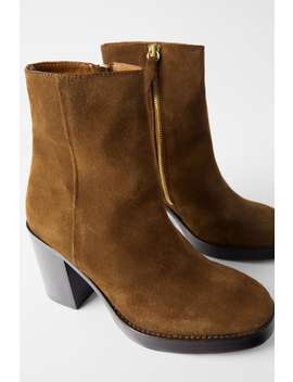 wood-heel-leather-ankle-boots by zara