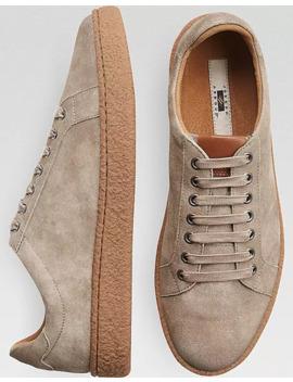 joseph-abboud-jayden-light-taupe-suede-sneakers by joseph-abboud