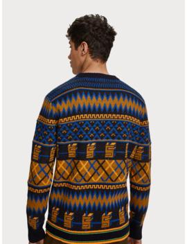 wool-blend-jacquard-sweater by scotch&soda