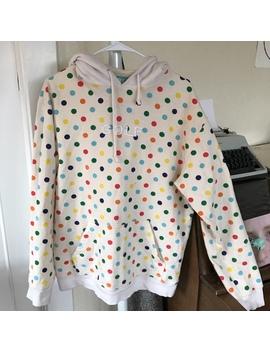 golf-wang-cream-polka-dot-hoodie by depop
