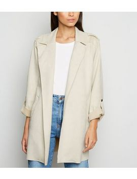 stone-suedette-duster-jacket by new-look