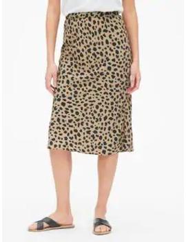 print-midi-skirt by gap