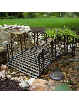 coral-coast-willow-creek-4-ft-metal-garden-bridge by hayneedle