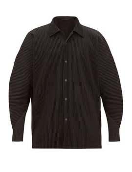 relaxed-plissé-shirt by homme-plissé-issey-miyake