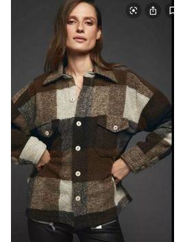 anine-bing-sz-m-bobbie-flannel-jacket-brown-nwt by &jacket