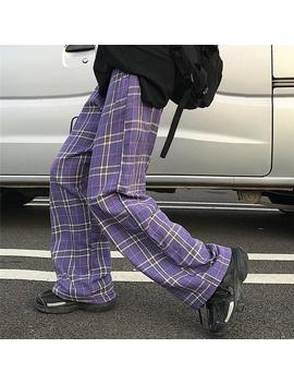 plaid-wide-leg-pants by dog-dog