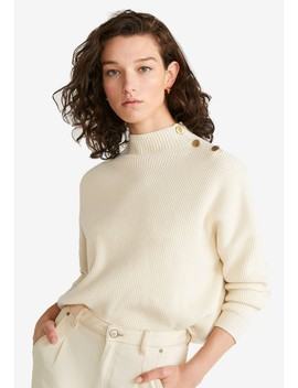 Button Sweater by Mango