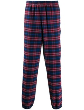 plaid-tracksuit-trousers by balenciaga