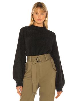 bell-sleeve-fluffy-knit by bardot