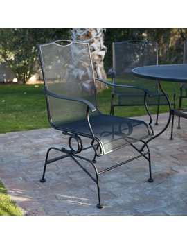 belham-living-stanton-wrought-iron-coil-spring-dining-chair-by-woodard---set-of-2---textured-black by hayneedle