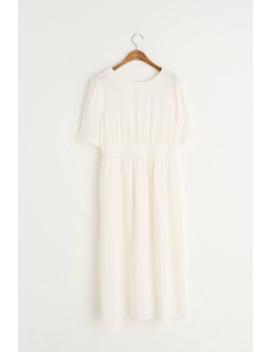 Ava Linen Blend Dress, Ivory by Olive