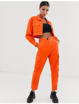 asos-design---blazer-fonctionnel-court---orange by asos-design