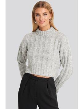 crop-sweater-gris by trendyol