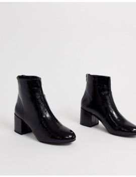 new-look---bottes-en-pu-à-bout-carré---noir by new-look