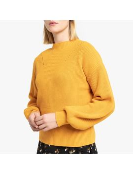 cotton-mix-high-neck-jumper-in-chunky-knit by la-redoute-collections
