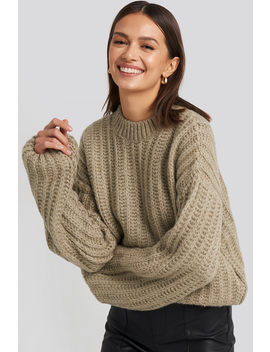 round-neck-heavy-knit-sweater-beige by na-kd