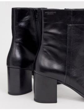 vagabond---nicole---bottines-à-talons-carrés-mi-hauts-avec-bout-arrondi---cuir-noir by vagabond