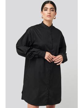 oversized-cotton-shirt-dress-noir by nakdclassic
