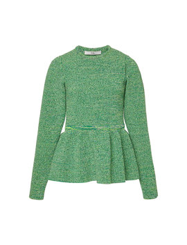 peplum-tweedy-sweater by tibi