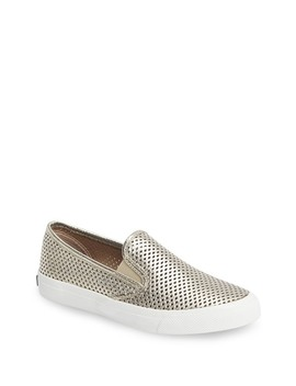 seaside-perforated-leather-slip-on-sneaker by sperry