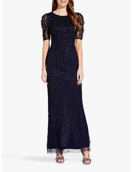 adrianna-papell-beaded-long-dress,-midnight by adrianna-papell