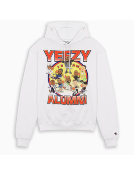 White Printed Hoodie by The Double F