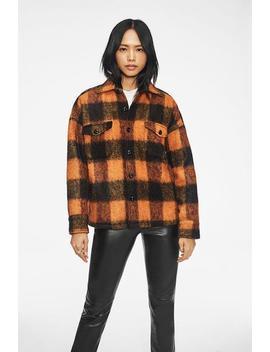 Samone Jacket   Orange Plaid by Anine Bing