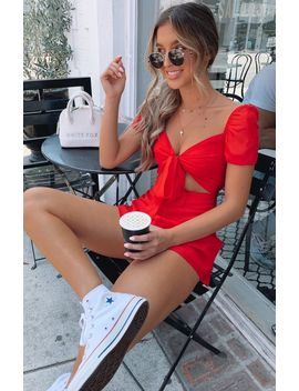 Hot Shot Playsuit Red by White Fox