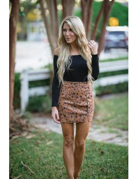 Save My Spot Skirt   Brown by Hazel & Olive