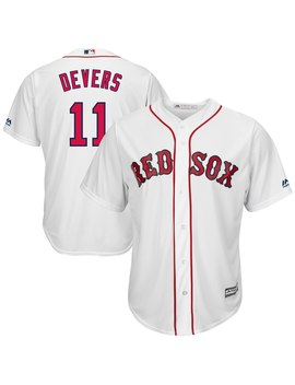 Men's Boston Red Sox Rafael Devers Majestic White Home Official Cool Base Player Jersey by Ml Bshop