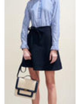 A Line Skirt With Tie Waist by Claudie Pierlot