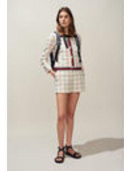 Tweed Jacket With Striped Trim by Claudie Pierlot