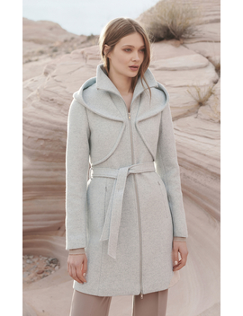 Arya Novelty Wool Coat With Dramatic Hood by Soia & Kyo