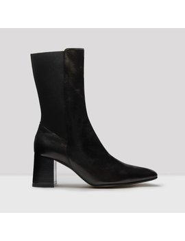 Judita Black Nappa Leather Slip On Boots by Miista
