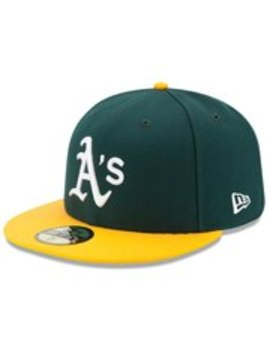 Oakland Athletics New Era Home Authentic Collection On Field 59 Fifty Fitted Hat   Green/Yellow by New Era
